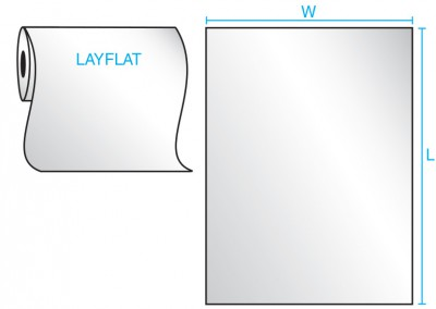 Layflat Bag on a Roll Drawing